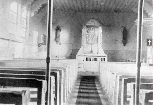 Die neue Kapelle (Klus) wird errichtet.